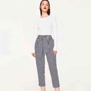 Zara striped tie pants